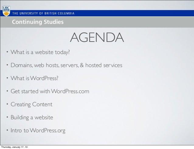 Intro to WordPress/Websites with WordPress Feb 2013 Update Slide 2