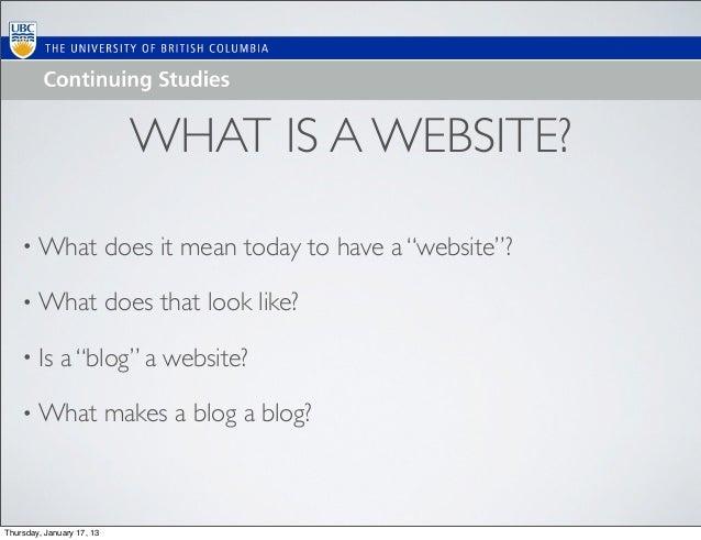 Intro to WordPress/Websites with WordPress Feb 2013 Update Slide 3