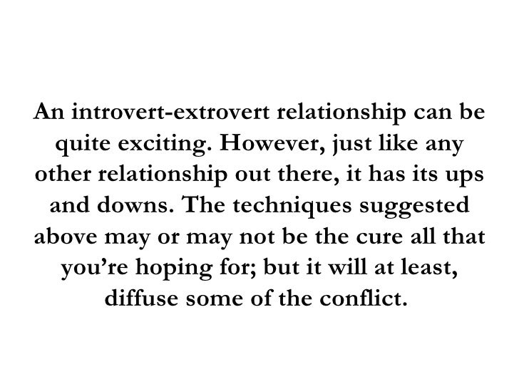 Introverts guide to dating an extrovert