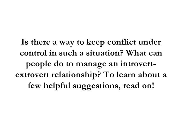 Introvert and extrovert relationships