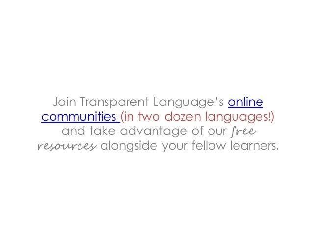 Join Transparent Languages Online Communities
