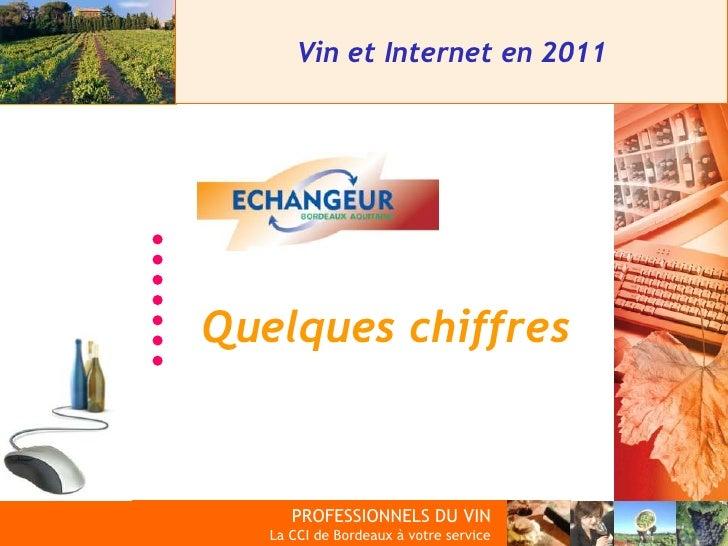 Vin et Internet en 2011  Quelques chiffres   PROFESSIONNELS DU VIN            PROFESSIONNELS DU VINLa CCI de Bordeaux à vo...