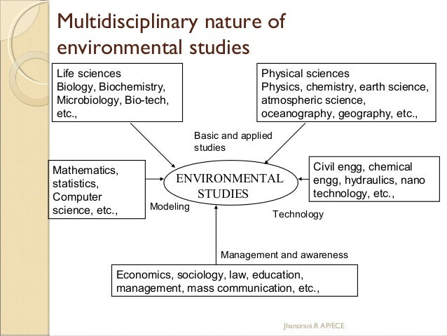 essay on multidisciplinary nature of environmental studies Two other roots of environmental history are the archaeology and anthropology of which the latter introduced ecology into the human sciences the emergence of world history, with works by mcneill and thomas (mcneill: 1967 thomas 1956 ) among others, introduced interdisciplinary and continental wide.