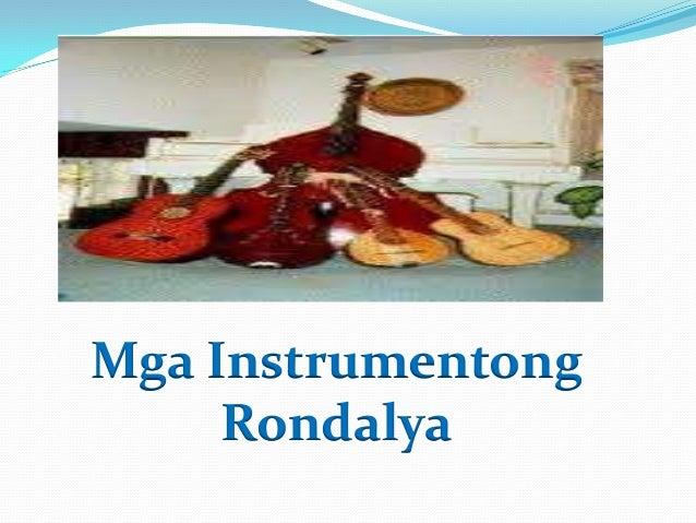 Mga Instrumentong Rondalya