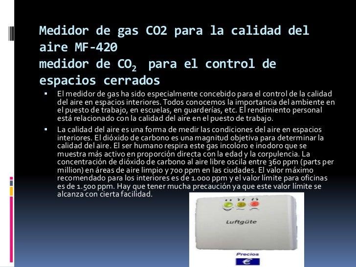 Intrumentos de medidas para gas Slide 3