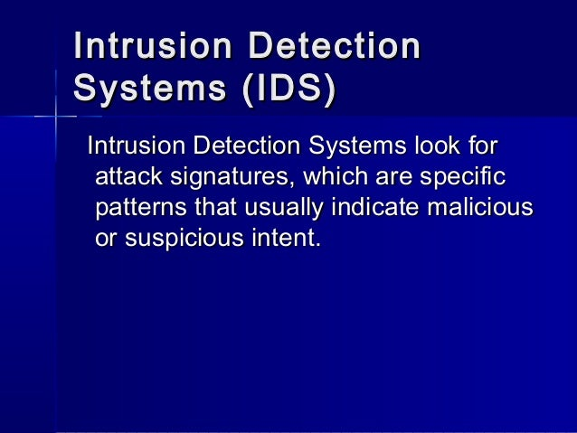 thesis on intrusion detection system An examination of pattern matching algorithms for intrusion detection systems by james kelly a thesis an examination of pattern matching algorithms for intrusion.