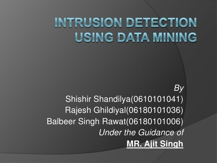 intrusion detection data mining thesis