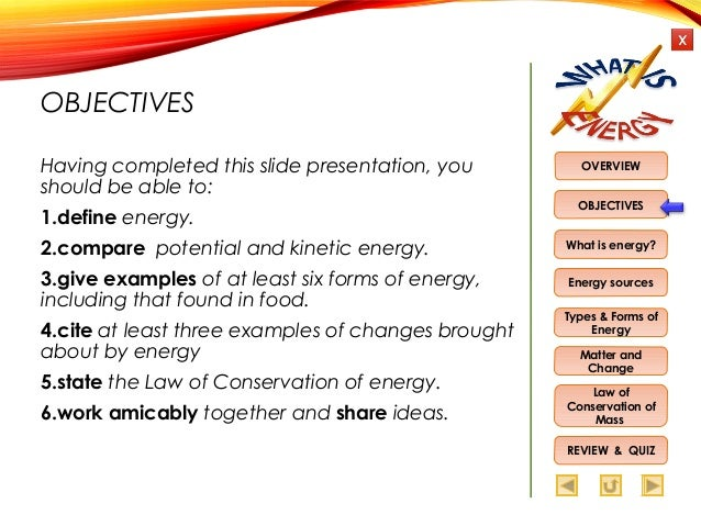 six forms of energy and examples