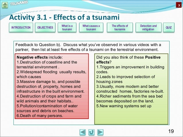 the damaging effects of a tsunami Twelve damaging tsunamis have struck  researchers then tackled the possible effects of a great cascadia subduction zone  deep-ocean tsunami.