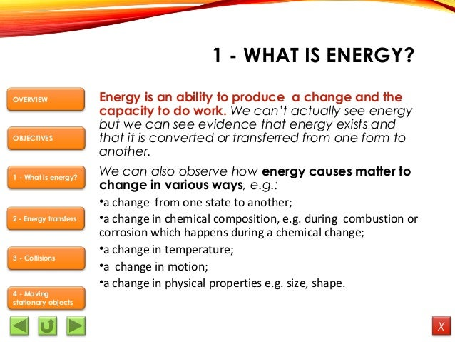 what is energy in science pdf