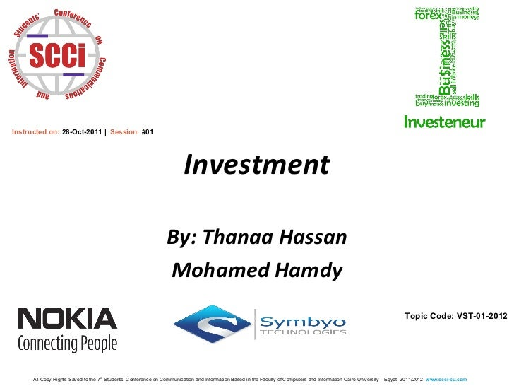 Instructed on: 28-Oct-2011 | Session: #01                                                                      Investment ...