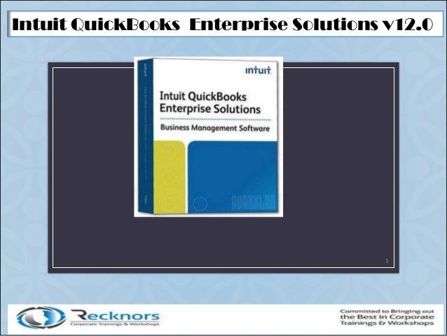 Intuit QuickBooks Enterprise Solutions v12.0 1