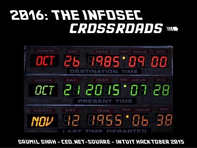 net-square INTUIT #Hacktober2015 2016: THE INFOSEC crossroads > SAUMIL SHAH - CEO,NET-SQUARE - INTUIT HACKTOBER 2015