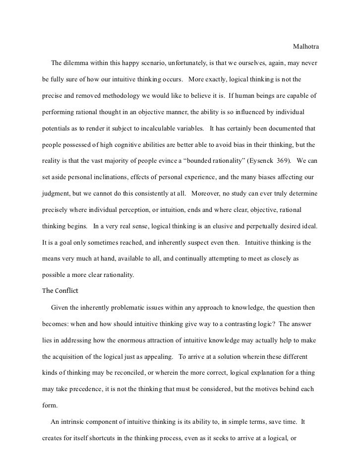 tok essay bias A theory of knowledge essay represents student's reflection on the points of various natural knowledge read the sample tok essay to create your own one easily.