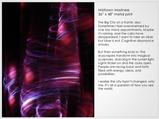 """Midtown Madness 36"""" x 48"""" metal print The Big City on a frantic day. Sometimes I feel overwhelmed by one too many appointm..."""