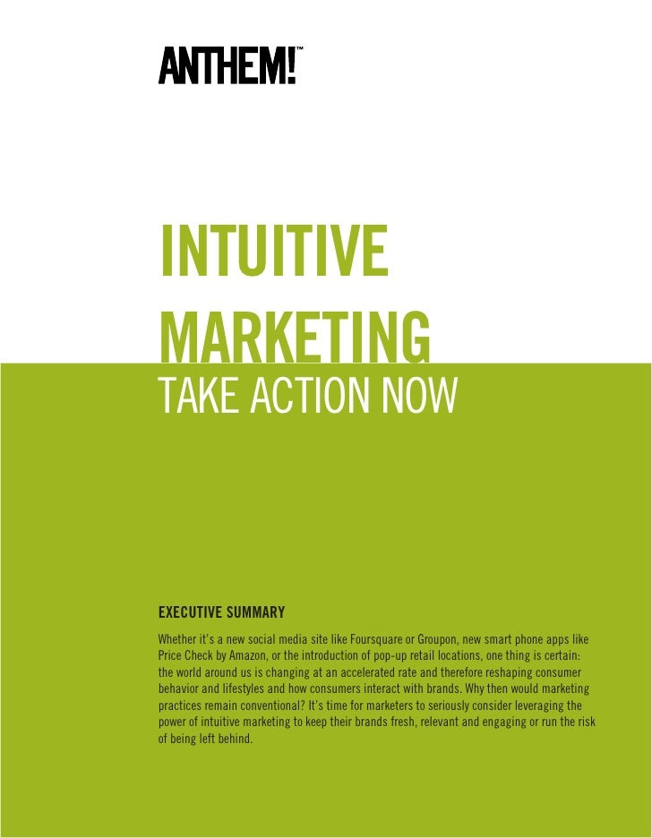 Intuitive marketing take action now