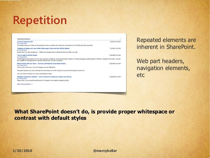 Repetition                                              Repeated elements are                                             ...
