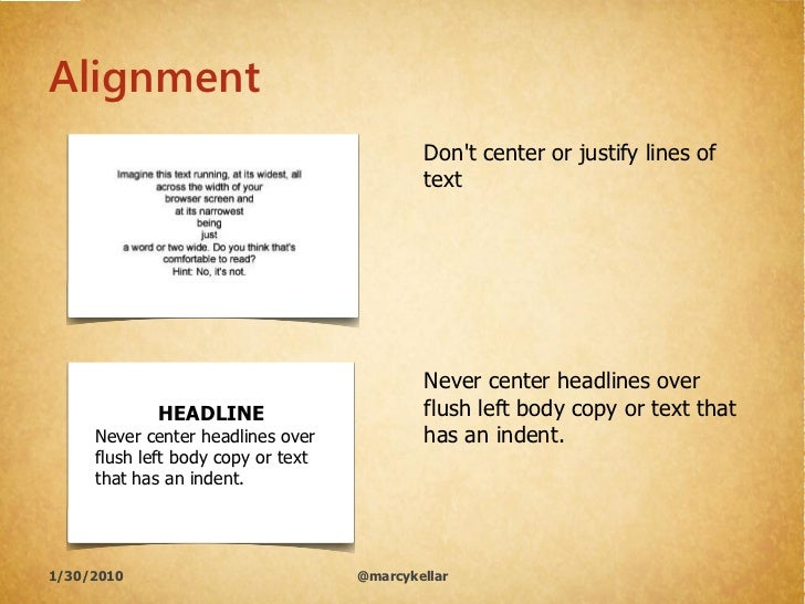 Alignment                                             Don't center or justify lines of                                    ...