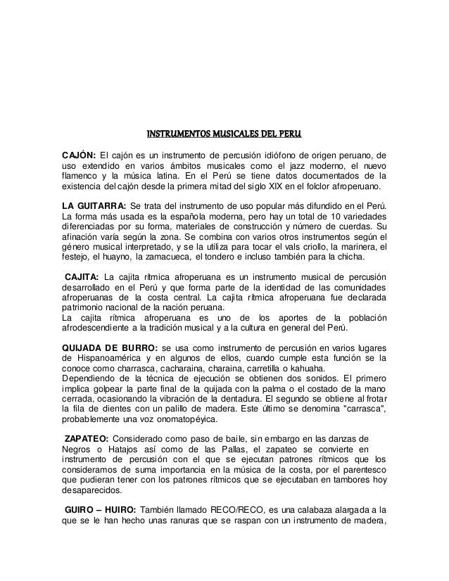 Instrumentos Musicales Del Peru
