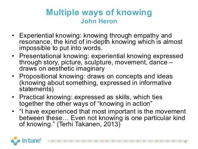Four Ways of Knowing - sludgeport512.web.fc2.com