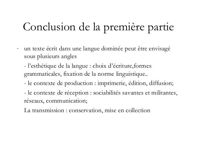 Conclusion de la première partie (suite) Nota : Il n'y a pas de technique sans institution: sont de la partie - l'éditeur ...