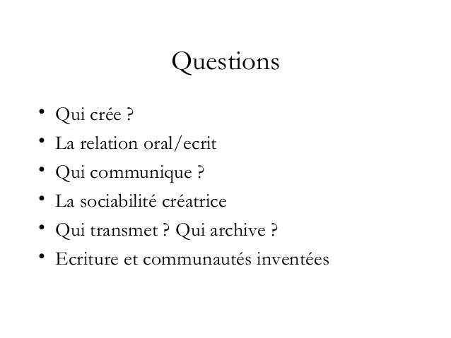 Pour cette conférence : un corpus réduit • Des langues dominées dans des espaces francophones Maurizio Gatti, Etre écrivai...
