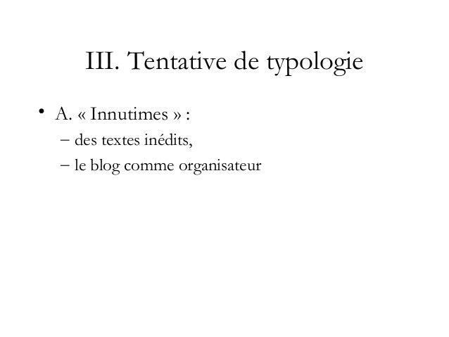A. un blog porteur d'identité et de sociabilité : le blog innutimes • http://innutime.blogspot.com/2010_04_01_archive.html...