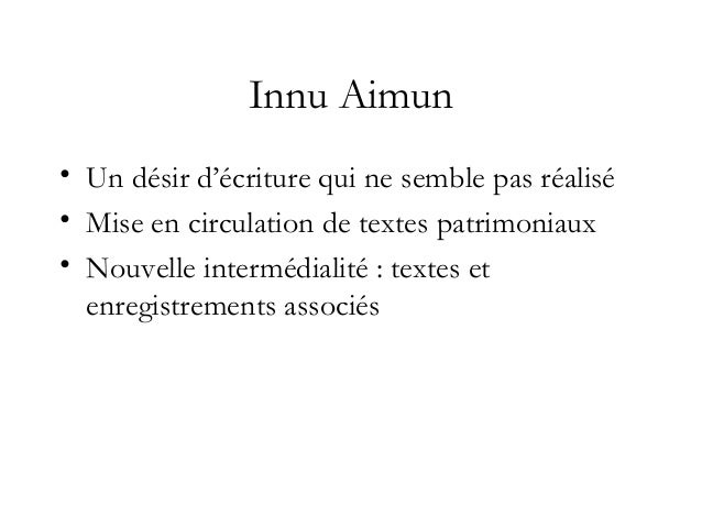 http://www.innu-aimun.ca/modules.php?name=stories&p=book& • Some of the story files have accompanying sound files. To play...