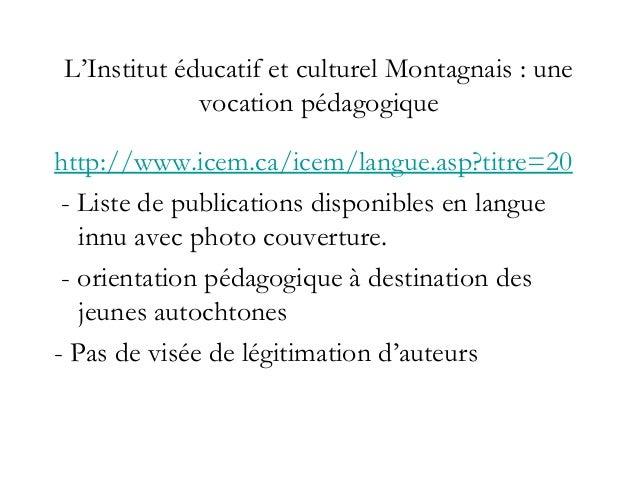 Le musée/centre culturel de Masteuiash : une vocation militante mais peu de textes Un «Musée» très politique http://www....