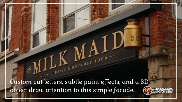 Upper Canada CNC Studio, Your Commercial & Residential Signage Experts  Slide 3