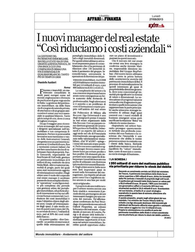 I nuovi manager del real estate