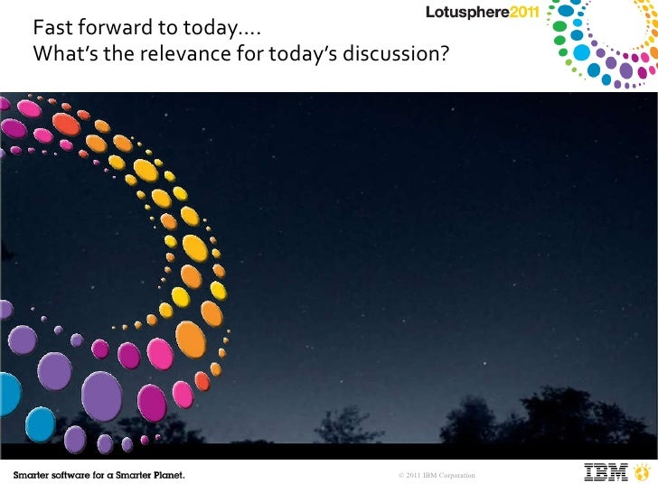 Fast forward to today…. What's the relevance for today's discussion?