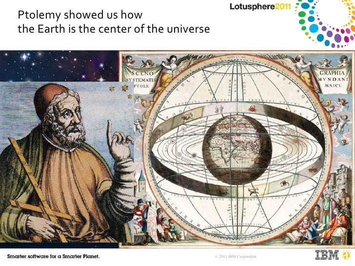 Ptolemy showed us how  the Earth is the center of the universe