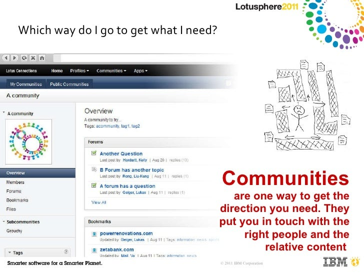 Which way do I go to get what I need? Communities  are one way to get the direction you need. They put you in touch with t...