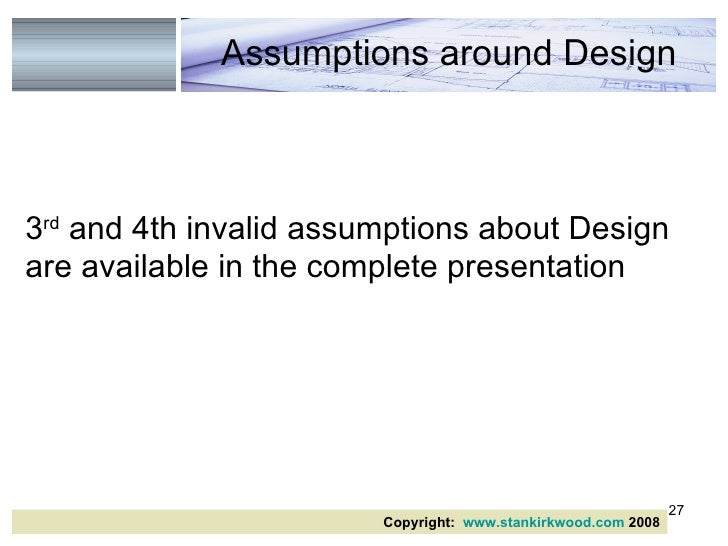 Invalid Business Assumptions