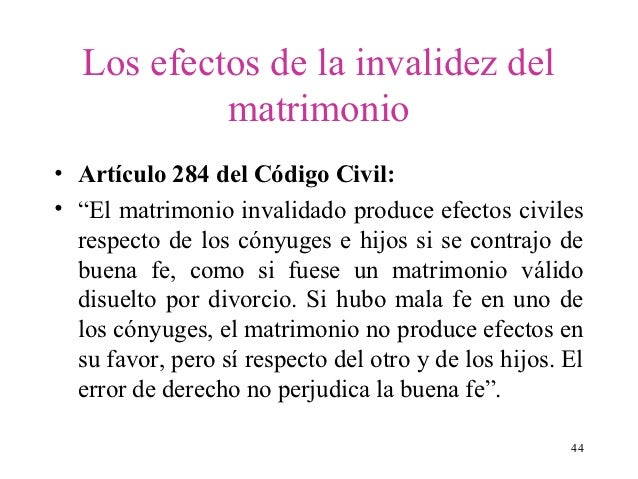 El Matrimonio Catolico Que Efectos Produce : Invalidez del matrimonio cal