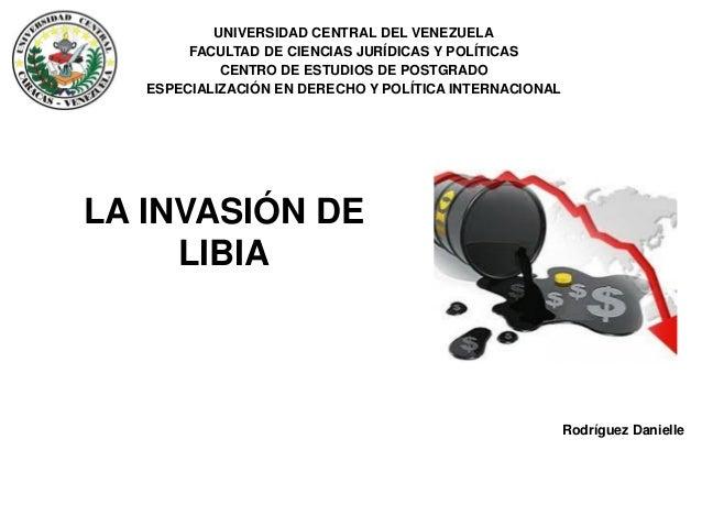 Rodríguez Danielle UNIVERSIDAD CENTRAL DEL VENEZUELA FACULTAD DE CIENCIAS JURÍDICAS Y POLÍTICAS CENTRO DE ESTUDIOS DE POST...