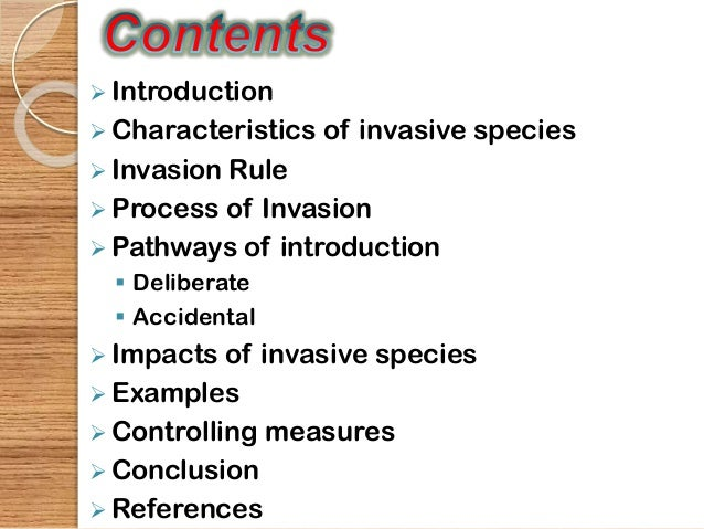 Invasive Species Boon Or Bane By Manisha Mp Botany Roll No