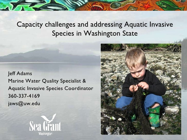 Capacity challenges and addressing Aquatic Invasive Species in Washington State Jeff Adams Marine Water Quality Specialist...