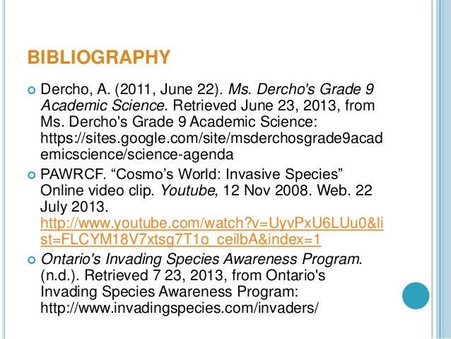 Invasive Species Powerpoint