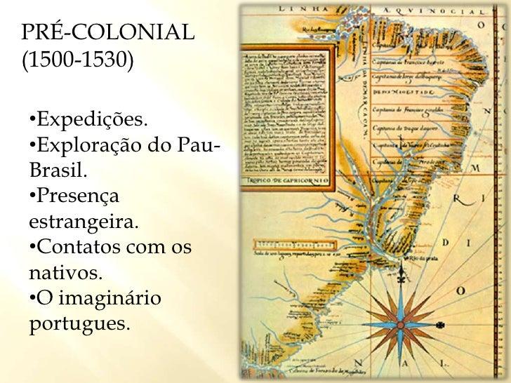 PRÉ-COLONIAL (1500-1530)<br /><ul><li>Expedições.