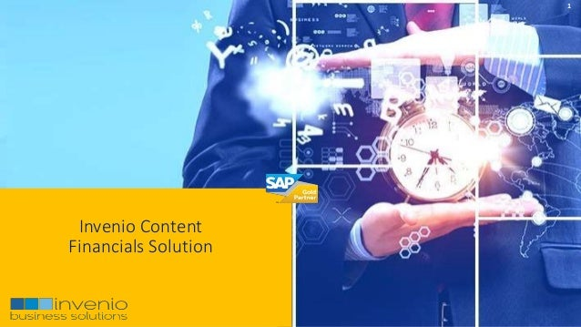 1 Invenio Content Financials Solution