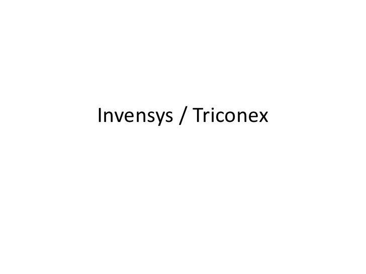 Invensys Triconex Training