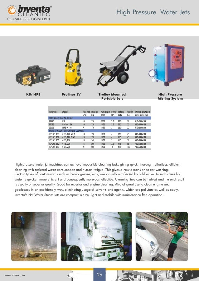 Inventa Cleantec Private Limited Noida Cleaning Equipment