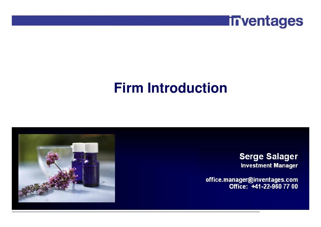 Firm Introduction