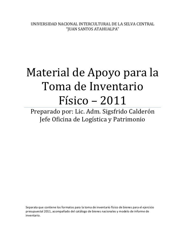 """UNIVERSIDAD NACIONAL INTERCULTURAL DE LA SELVA CENTRAL                  """"JUAN SANTOS ATAHUALPA""""Material de Apoyo para la  ..."""