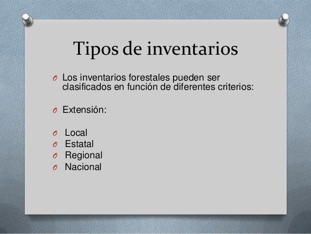 Inventario forestal for Tipos de plantas forestales