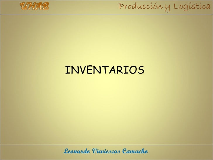 INVENTARIOSLeonardo Virviescas Camacho