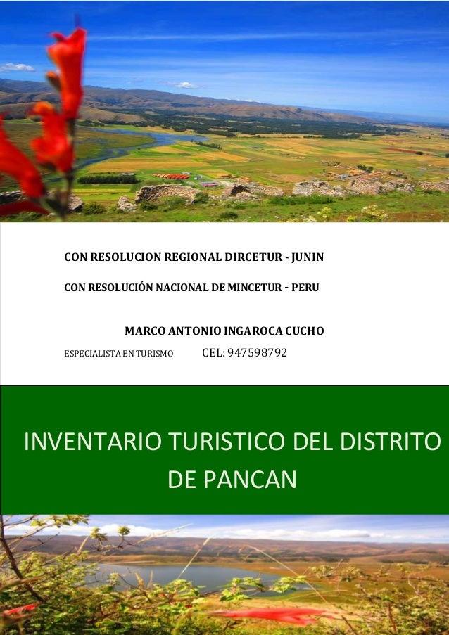 INVENTARIO TURISTICO DEL DISTRITO DE PANCAN VALIDADO A NIVEL REGIONAL…