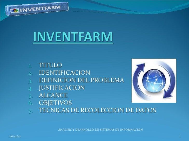 06/12/10 ANALISIS Y DEARROLLO DE SISTEMAS DE INFORMACION